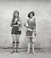 Image of Two Bathing Beauties With Prize Cup