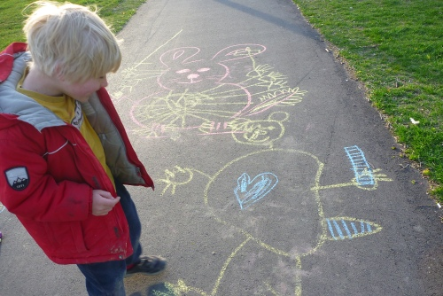 Turn on your images to see Chalk Drawing
