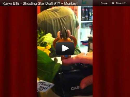 Link to youtube video of Cymbal Playing Monkey on Taloola's Cash Register